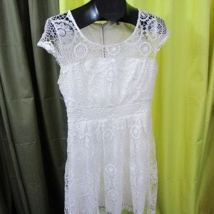 *SALE* Charlotte Russe White Lace Skater Dress